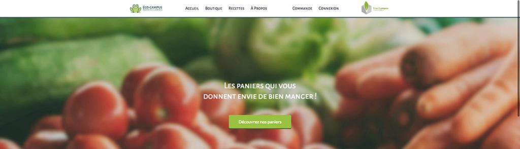 Maquette web du e-Commerce de Éco-Campus