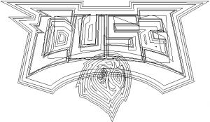 Vue fil de fer du logo Cuse