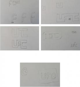 Recherches papier du logo de l'UFC