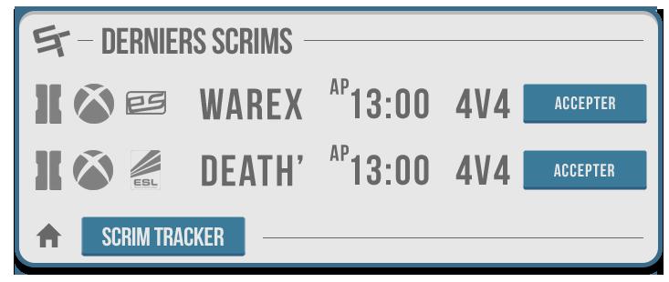 Module Scrim Tracker