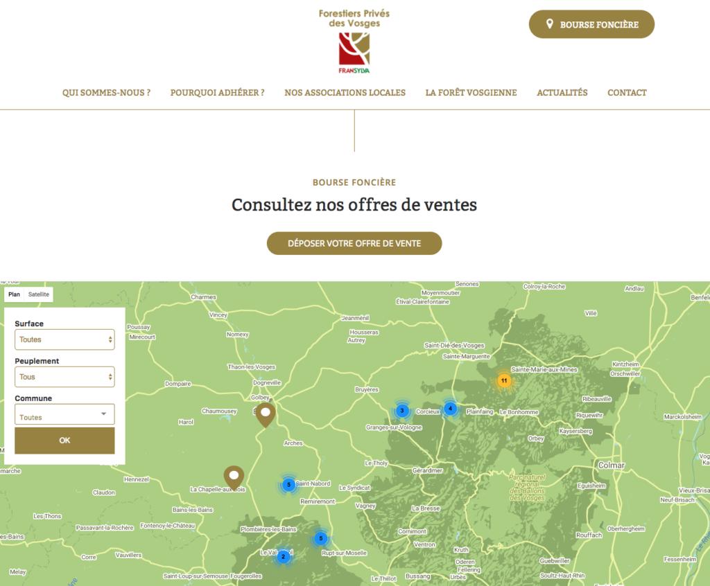 Bourse foncière des forestiers privés des Vosges