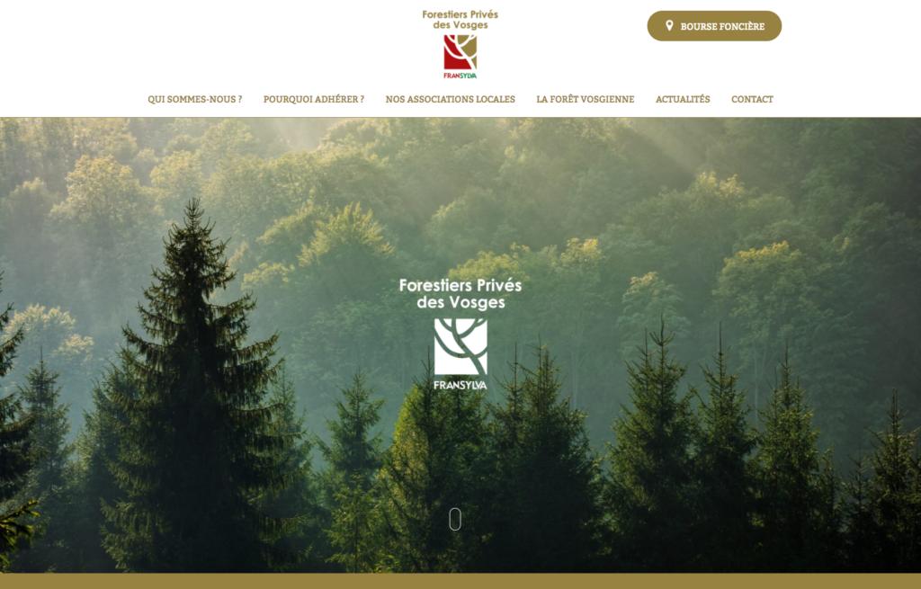 Page d'accueil du site Les forestiers privés des Vosges