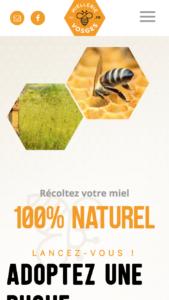 Version mobile du site de la Miellerie des Vosges