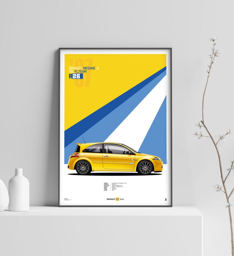 Affiche de Megane RS de Jk Design