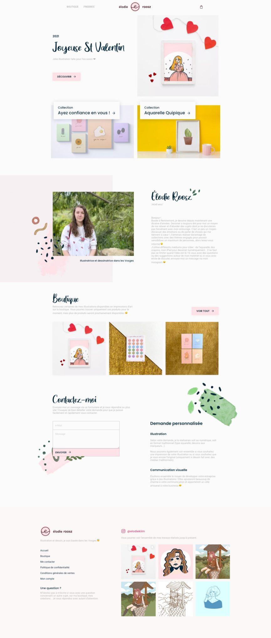 Page d'accueil du site de Élodie Roosz